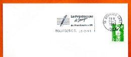 18 BOURGES   LE PRINTEMPS  1991 Lettre Entière N° MN 476 - Marcophilie (Lettres)