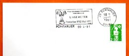 25 PONTARLIER L'AGE DU FER   1991 Lettre Entière N° MN 477 - Marcophilie (Lettres)