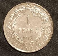 BELGIQUE - 1 Franc 1913 - Albert 1er Roi Des Belges - Légende FR - Argent - Silver - KM 72 - 1909-1934: Albert I