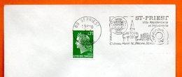 69 SAINT PRIEST  CHATEAU HENRI IV    1971 Lettre Entière N° FG 124 - Marcophilie (Lettres)