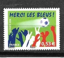 """France:( Sous Faciale ) Le N°3936** """"Merci Les Bleus"""" (sous Faciale) - Ungebraucht"""