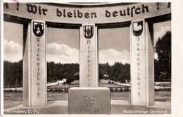 ALLENSTEIN Olsztyn Ostpreußen Abstimmungs Denkmal Bischofsburg Johannisburg Ungelaufen - Ostpreussen