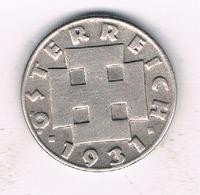 5 GROSCHEN 1931 OOSTENRIJK /1254/ - Autriche