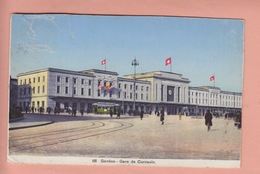 OLD POSTCARD - SWITZERLAND - SUISSE -    SCHWEIZ -       GENEVE -  GARE DE CORNAVIN - GE Genève