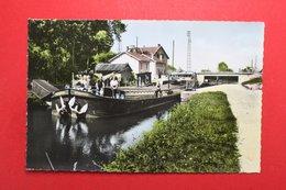 24684  CPA  STENAY : L' ECluse !!  Péniche à La Sortie De L' Ecluse  !! Superbe   Carte Photo !! ACHAT DIRECT !! - Stenay