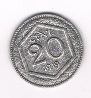 20 CENTESIMI  1919  R ITALIE /1257// - 1861-1946 : Royaume
