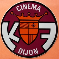 AUTOCOLLANT STICKER - CINEMA K7 - DIJON - Stickers