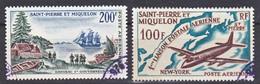Saint Pierre Et Miquelon PA  29, 30 Liaison Postale,premier Gouverneur Oblitérés Used TB Cote 24 - Oblitérés