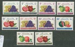 Afghanistan * N° 564 à 573 - Fruits : Raisins, Grenades, Pommes, Pastèques - Afghanistan