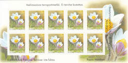 2000 Finland Anemone Flowers Fleurs Complete Booklet MNH  @ BELOW FACE VALUE - Finlande