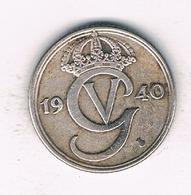 25 ORE  1940  G  ZWEDEN /1260/ - Schweden