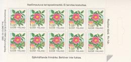 1993 Finland  Flowers Fleurs Complete Booklet MNH  @ BELOW FACE VALUE - Finlande