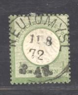 GRX 668  -  Allemagne  -  Reich  :  Mi  2b   (o)  Obl.  NEUTOMYS , Dunkelsmargdgrün - Germany