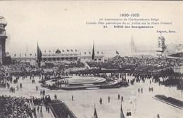 Bruxelles, 75e Anniversaire De L'indépendance Belge, Grande Fête Patriotique Du 21 Juillet Place Poelaert  (pk68079) - Fêtes, événements