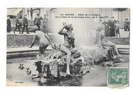 (26083-44) Nantes - Détail De La Fontaine De La Place De La Duchesse Anne - Nantes