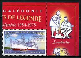 CALEDONIE 2019 N° 1365 ** Neuf MNH  Superbe Bateaux Paquebots De Légende  Le Polynésie Boats Ships Transports - Nuovi