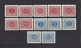 Czechoslovakia 1928 MNH ** Mi 55-66 Sc J58-J69 Postage Due Stamps, Portomarken. Tschechoslowakei. C3 - Ungebraucht