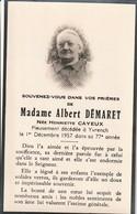 80150 YVRENCH - HENRIETTE CAYEUX  DEMARET En 1957 - Décès