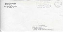 LOIRE ATLANTIQUE 44  - ST NAZAIRE  -  FLAMME 50e ANNIVERSAIRE CUIRASSE JEAN BART - DESCRIPTION   - 1990  - EN P.P. - Marcophilie (Lettres)