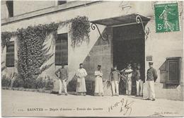17 - SAINTES - Dépôt D'étalons - Entrée Des écuries. Belle Animation, 1907. BE. - Saintes