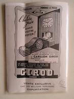 """Morbier (Jura)  Carillon Pendule """"GIROD""""     - Coupure De Presse De 1939 - Clocks"""