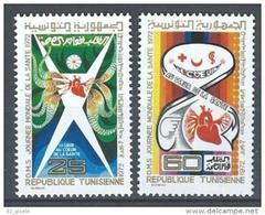 """Tunisie YT 717 Et 718 """" Journée De La Santé """" 1972 Neuf** - Tunisia (1956-...)"""