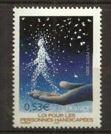 France:n° 3803** 30e Anni . Pour La Loi Sur Les Personnes Handicapées (sous Faciale) - France