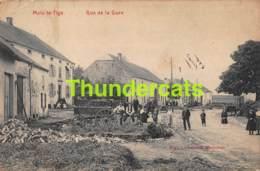 CPA MEIX LE TIGE RUE DE LA GARE  ( PLI D'ANGLE ) SAINT LEGER - Saint-Léger