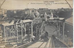 75, Paris, LUNA PARK, Descente Vertigineuse D'un Bateau Sur La Pente Du Water Chute, Scan Recto Verso - Parken, Tuinen