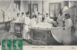 75, Paris, HOPITAL TENON, Lingerie, Scan Recto Verso - Gezondheid, Ziekenhuizen