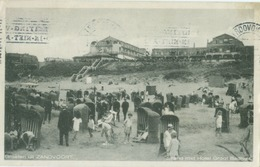 Zandvoort 1934; Strand Met Hotel Groot Badhuis - Gelopen. (J. Ros - Amsterdam) - Zandvoort