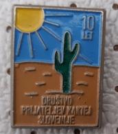 Cactus Linne Club Slovenia 10 Years Flower Flowers Pins - Pin's & Anstecknadeln