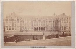 LIEGE Le Palais De Justice 1880-1890 Photo CDV Au Format Cabinet - Photos