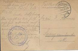 MEURTHE ET MOZELLE 54 - LONGUYON - COLONNE N° 734 KGL PREUSS LEICHIE MUNITIONS S.B. - 1917 - DEUTSCHE FELDPOST - Poststempel (Briefe)