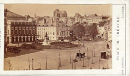 LIEGE Place Du Théâtre Années 1870 ? Photo Format CDV Par Jos. KIRSCH De Liège - Old (before 1900)