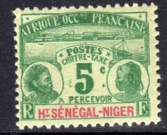 Haut-Sénégal Taxe N°  1 X  5c. Vert Sur Verdâtre Trace De Charnière Sinon TB - Ongebruikt