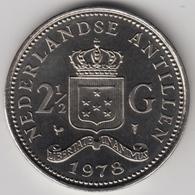 @Y@    Nederlandse Antillen  2 1/2  Gulden  Rijksdaalder  1978  ( 4735 ) - Nederlandse Antillen