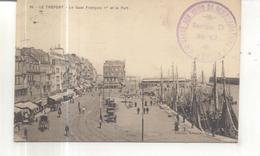 Cachet : Garde Des Voies De Communications, 3e Région, Section D, EU  (Le Tréport, Le Quai François 1er) - Poststempel (Briefe)