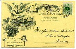 Merbes Le Chateau - Carte  Lithographiée Imprimerie Dars + Cachet Merbes Le Chateau De 1892 (  T 32 ) - Merbes-le-Château