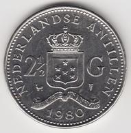 @Y@    Nederlandse Antillen  2 1/2  Gulden  Rijksdaalder  1980  ( 4738 ) - Nederlandse Antillen