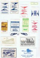 EMBALLAGES DE SUCRE-LOCOMOTIVES ET DIVERS SUR PUBLICITES- - Sucres