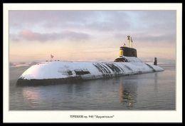 "RUSSIA POSTCARD 999 Mint SUBMARINE NUCLEAR 941 ""Arkhangelsk"" ATOM NORTH NAVY NAVAL SOUS MARIN U BOOT ARCTIC POLAR 49 - Submarines"