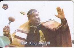 LESOTHO(chip) - H.M.King Leslie III(M50), Chip Siemens 30, Used - Lesotho