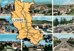 CARTE GEOGRAPHIQUE LOIRE - Mapas
