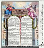 BLOC - 11  - 1989 -    Déclaration Des Droits De L' Homme Et Du Citoyen -1789 -  Neuf -  Non Plié  - - Nuovi