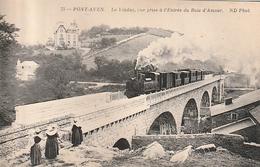 PONT AVEN LEVIADUC Avec Le Train à Vapeur - Altri Comuni