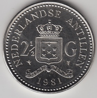 @Y@    Nederlandse Antillen  2 1/2  Gulden  Rijksdaalder  1981  ( 4739 ) - Nederlandse Antillen
