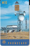 LESOTHO - Earth Station, First Issue, CN : LTCAA(matt Surface), Chip Siemens 30, Used - Lesotho