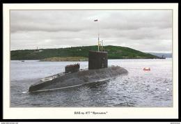 "RUSSIA POSTCARD 999 Mint SUBMARINE Diesel 877 ""YAROSLAVL"" NORTH NAVY NAVAL SOUS-MARIN U-BOOT ARCTIC POLAR NORD 50 - Submarines"