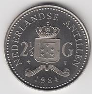 @Y@    Nederlandse Antillen  2 1/2  Gulden  Rijksdaalder  1984  ( 4741 ) - Nederlandse Antillen